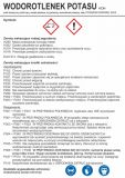 LC018 - Wodorotlenek potasu - etykieta chemiczna, oznakowanie opakowania - Etykiety CLP – transport materiałów niebezpiecznych