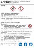 LC021 - Aceton - etykieta chemiczna, oznakowanie opakowania - Substancje chemiczne – oznakowanie
