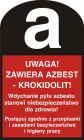 LD001 - Uwaga! Zawiera azbest - krokidolit!