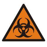 LE001 - Substancja stwarzająca zagrożenie biologiczne - znak bezpieczeństwa, ostrzegający, informujący - Materiały niebezpieczne – ogólne informacje BHP