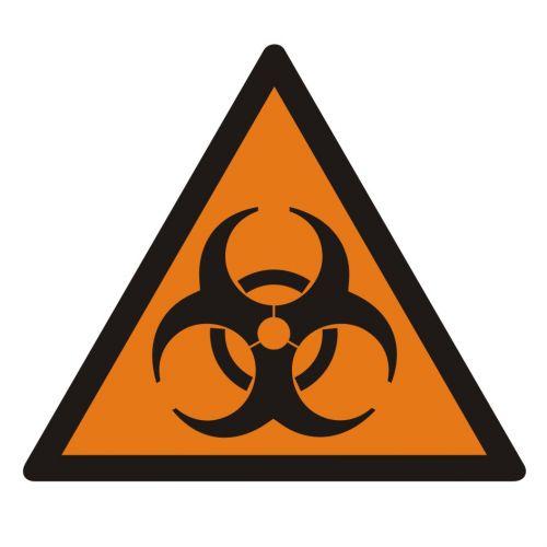 LE001 - Substancja stwarzająca zagrożenie biologiczne - znak bezpieczeństwa, ostrzegający, informujący - Zagrożenia biologiczne w miejscu pracy