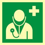 Lekarz - znak ewakuacyjny - AAE009 - Znaki bezpieczeństwa – wymagania konstrukcyjne i normy