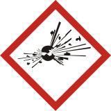 LF001 - Produkt wybuchowy - znak piktogram GHS 01 CLP - Substancje i mieszaniny samoreaktywne