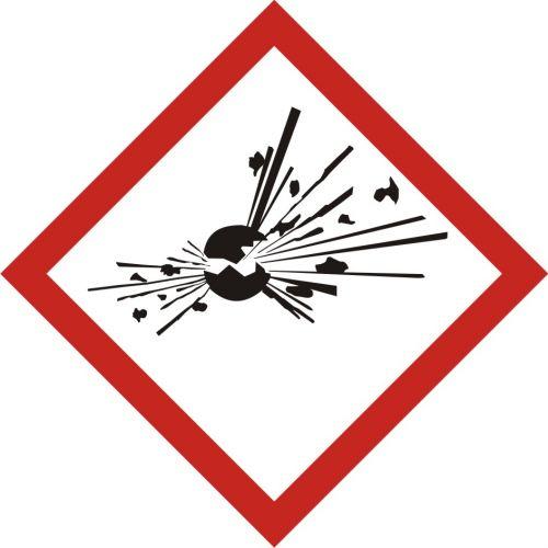 LF001 - Produkt wybuchowy - znak piktogram GHS 01 CLP - Substancje chemiczne – oznakowanie