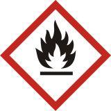 LF002 - Produkt łatwopalny - znak piktogram GHS 02 CLP - Substancje i mieszaniny samoreaktywne