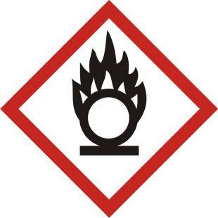 LF003 - Produkt utleniający - znak piktogram GHS 03 CLP