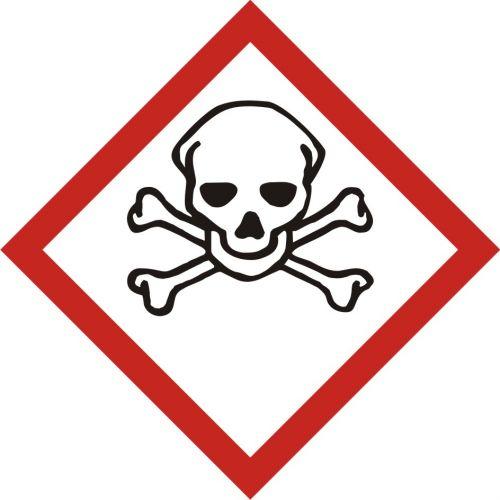 LF006 - Produkt bardzo toksyczny - znak piktogram GHS 06 CLP - Substancje chemiczne – oznakowanie
