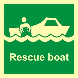 Łódź ratownicza - znak morski - FB003