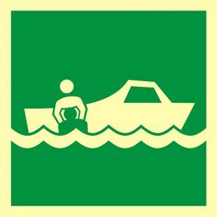 Łódź ratownicza - znak morski - FB036