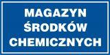 Magazyn środków chemicznych - znak informacyjny - PB067 - Sposoby składowania materiałów w magazynie