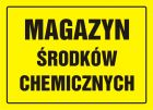 Magazyn środków chemicznych - znak, tablica budowlana - OA065