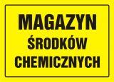 Magazyn środków chemicznych - znak, tablica budowlana - OA065 - Czynniki chemiczne w miejscu pracy – wyjaśnienie podstawowych pojęć