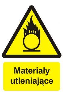 Materiały utleniające - znak przeciwpożarowy ppoż - BC003