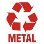 Metal 1 - znak informacyjny, segregacja śmieci - PA054