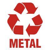 Metal 1 - znak informacyjny, segregacja śmieci - PA054 - Pojemniki na odpady. Jak je oznaczamy?
