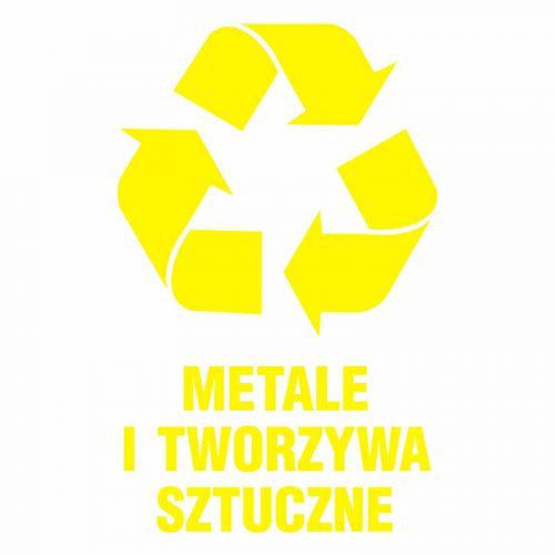 Metale i tworzywa sztuczne 1 - znak informacyjny, segregacja śmieci - PA062 - Zasady segregacji odpadów w Gdańsku po 1 kwietnia 2018