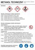 Metanol  techniczny - etykieta chemiczna, oznakowanie opakowania - LC003 - Etykiety CLP – transport materiałów niebezpiecznych