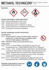 Metanol  techniczny - etykieta, oznakowanie opakowania