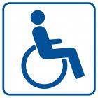 Miejsce dla inwalidów na wózkach - znak informacyjny - RA071
