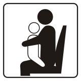 Miejsce dla osoby z dzieckiem - znak, naklejka kolejowa - SD012 - Znaki do pociągów – oznakowanie stosowane w wagonach pasażerskich