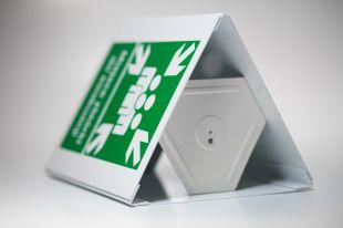 Miejsce zbiórki do ewakuacji 3D - 35x51,8 cm - znak ewakuacyjny, przestrzenny 3D