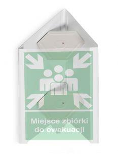 Miejsce zbiórki do ewakuacji 3D - mały 25 x 31 cm