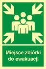 Miejsce zbiórki do ewakuacji - znak ewakuacyjny - AB002