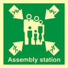 Miejsce zbiórki do ewakuacji - znak morski - FB023
