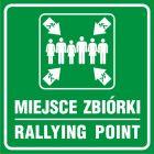 Miejsce zbiórki - Rallying point - znak informacyjny - PA025