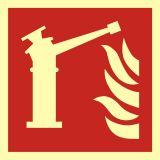 Monitor - znak przeciwpożarowy ppoż - BAF015 - Znaki ochrony przeciwpożarowej PN-EN ISO 7010