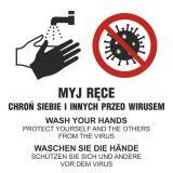 Myj ręce, dbaj o higienę rąk - chroń siebie i innych przed wirusem, zakażeniem, chorobami - PA102 - Instrukcja mycia i dezynfekcji rąk: jakie zasady i techniki powinna zawierać i gdzie ją kupić?