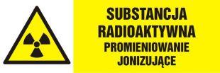 NA005 - Substancja radioaktywna-promieniowanie jonizujące - znak ostrzegający, informujący