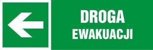 NA100 - Droga ewakuacji - znak informujący