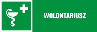 NA154 - Wolontariusz - znak informujący