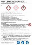 Nadtlenek wodoru 30% - etykieta chemiczna, oznakowanie opakowania - LC013 - Substancje chemiczne – oznakowanie
