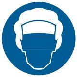 Nakaz stosowania czepka ochronnego - znak bhp nakazujący - GK009 - Ryzyko zawodowe a przepisy BHP