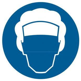 Nakaz stosowania czepka ochronnego - znak bhp nakazujący - GK009