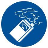 Nakaz stosowania detektora gazu - znak bhp nakazujący - GJM048 - Szkolenie okresowe pracodawców i innych osób kierujących pracownikami
