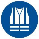 Nakaz stosowania kamizelki odblaskowej - znak bhp nakazujący - GJM015