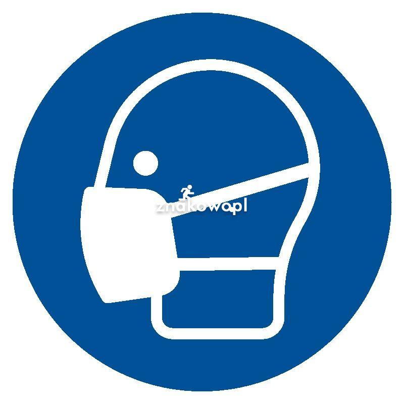 Nakaz stosowania maski przeciwpyłowej - Plac budowy – znaki i tablice
