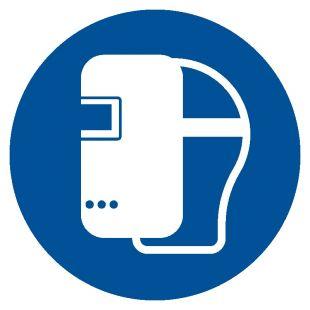Nakaz stosowania maski spawalniczej - znak bhp nakazujący - GJM019