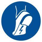 Nakaz stosowania obuwia antystatycznego - znak bhp nakazujący - GJM032