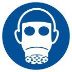 Nakaz stosowania ochrony dróg oddechowych - znak bhp nakazujący - GJM017