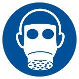 Nakaz stosowania ochrony dróg oddechowych - znak bhp nakazujący - GJM017 - Substancje i mieszaniny samoreaktywne