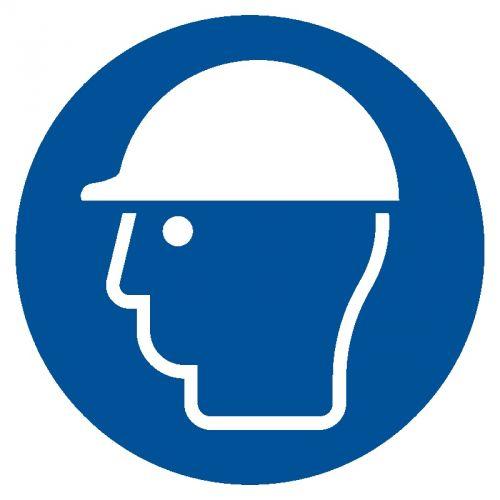 Nakaz stosowania ochrony głowy - znak bhp nakazujący - GJM014 - Ochrona głowy – odzież ochronna i robocza