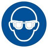 Nakaz stosowania ochrony oczu - znak bhp nakazujący - GJM004 - Znaki BHP w miejscu pracy (norma PN-93/N-01256/03)