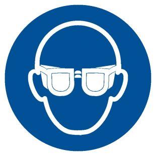 Nakaz stosowania ochrony oczu - znak bhp nakazujący - GJM004