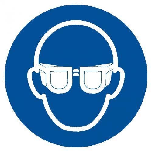 Nakaz stosowania ochrony oczu - znak bhp nakazujący - GJM004 - Dobór środków ochrony indywidualnej
