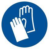 Nakaz stosowania ochrony rąk - znak bhp nakazujący - GJM009 - Substancje i mieszaniny samoreaktywne