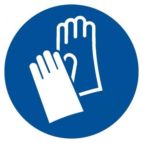 Nakaz stosowania ochrony rąk - znak bhp nakazujący - GJM009 - Środki ochrony kończyn górnych